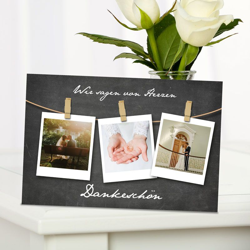 danksagung hochzeit polaroids hier drucken lassen. Black Bedroom Furniture Sets. Home Design Ideas