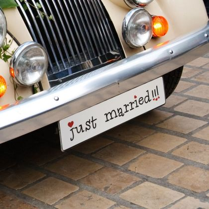 Autoschmuck Nummernschild Just Married