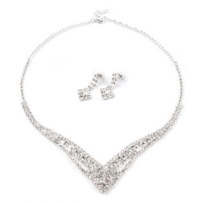 Brautschmuck Set Strass Royal