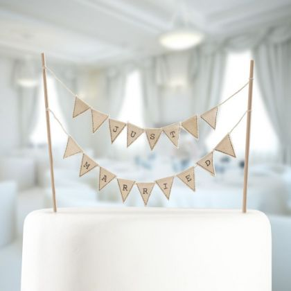 Just Married Hochzeitstorten Topper