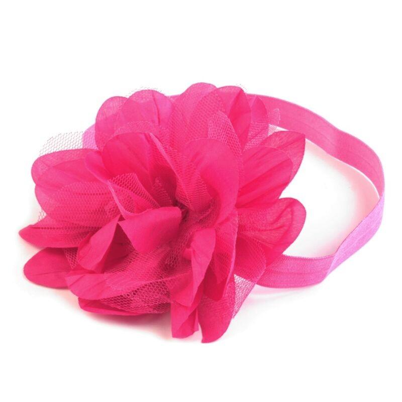 dbe782930c7a39 Haarband Hochzeit für Blumenkinder: Mit Blüte in Pink