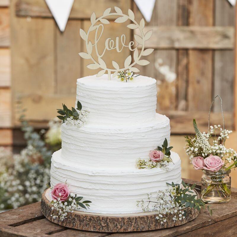 Cake Topper Love Aus Holz Fur Eure Hochzeitstorte