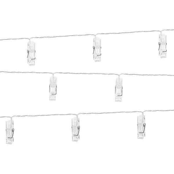 Lichterkette Mit Klammern 20 Led Lampchen 3 M