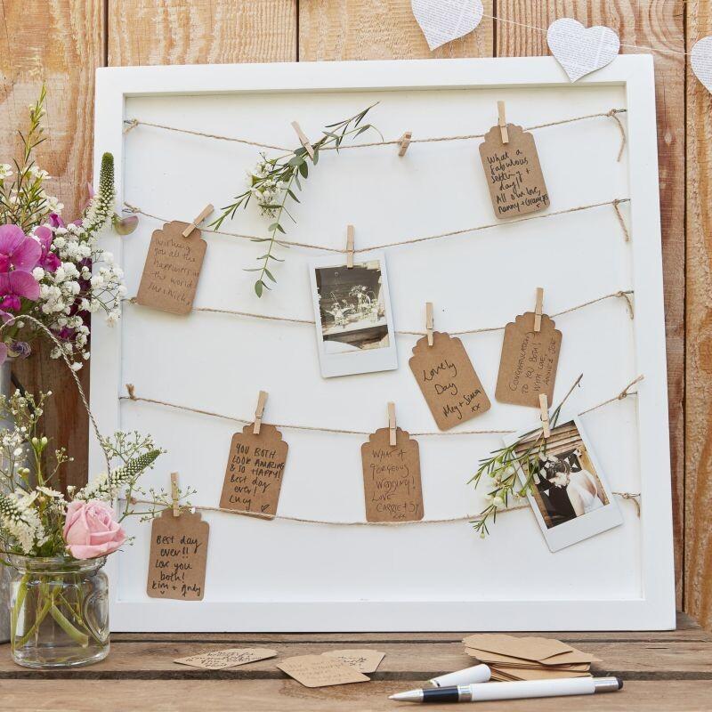 Gästebuch Alternative Rahmen mit Wunschkärtchen