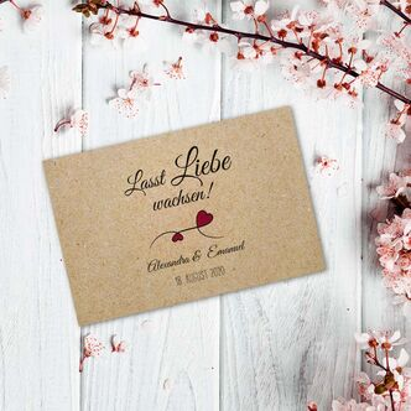 Euer Gastgeschenk Blumensamen Hochzeit Sweet Love