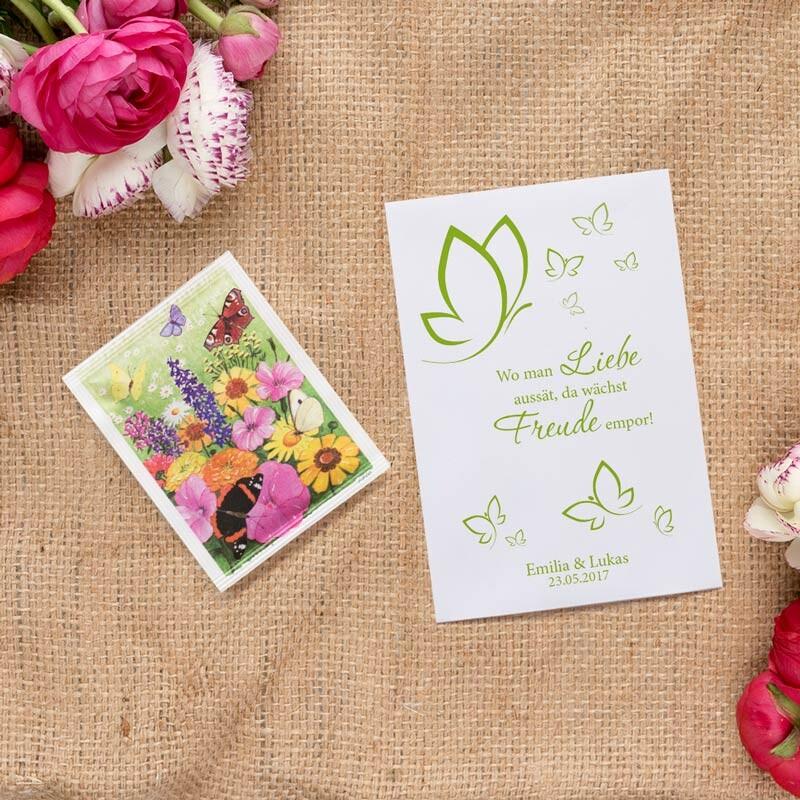 Gastgeschenk Blumensamen Hochzeit Schmetterlingszauber
