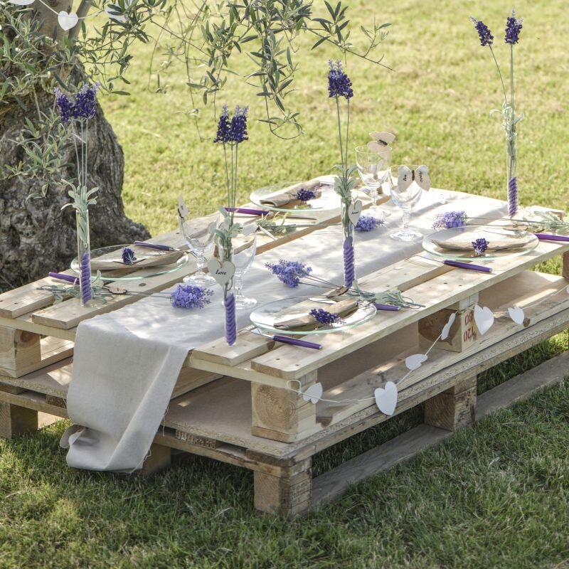 Tischläufer Leinen creme | 28 cm x 5 m