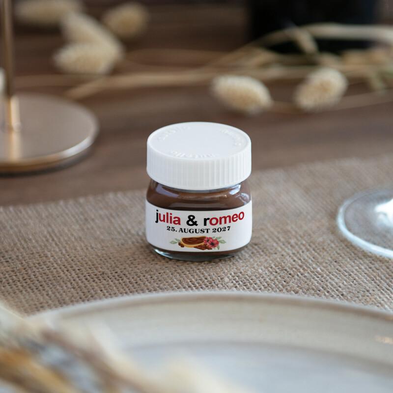 Personalisiertes Mini Nutella Glas