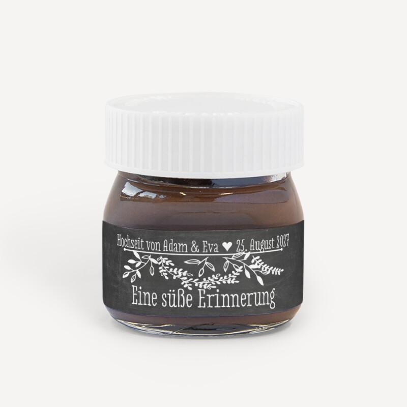 Gastgeschenk Mini Nutella Glas Mit Aufkleber Tafel