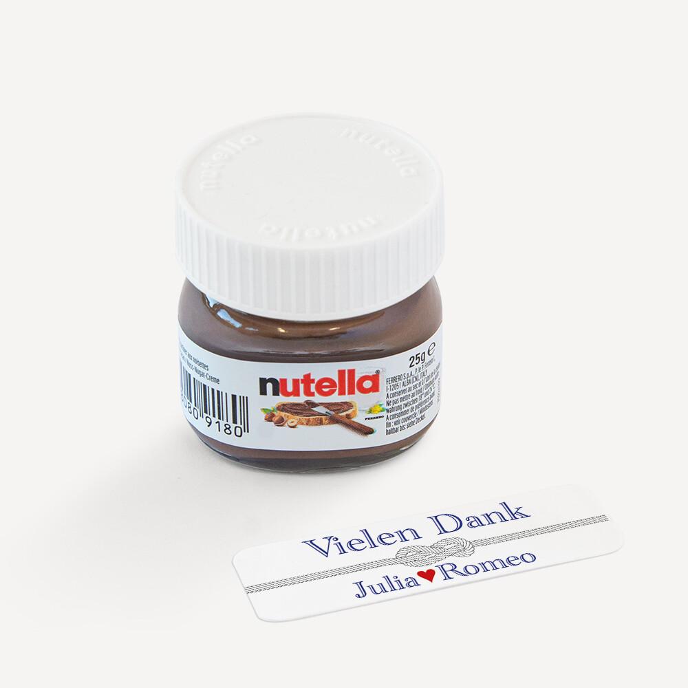 Gastgeschenk Mini Nutella Glas Mit Aufkleber Liebesknoten