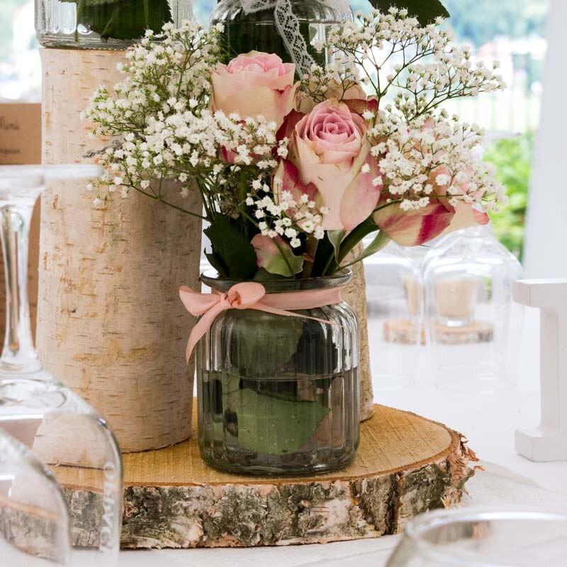 Glasvase Mit Rillen Vintage Hier Bestellen Meine Hochzeitsdeko