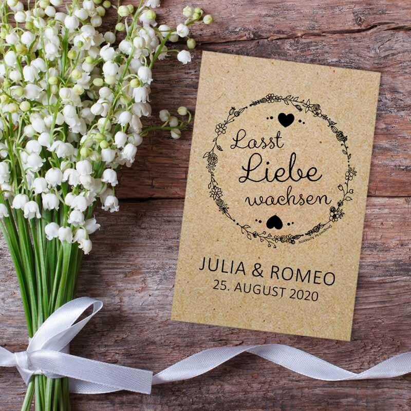 Euer Gastgeschenk Blumensamen Hochzeit Vintage Natural