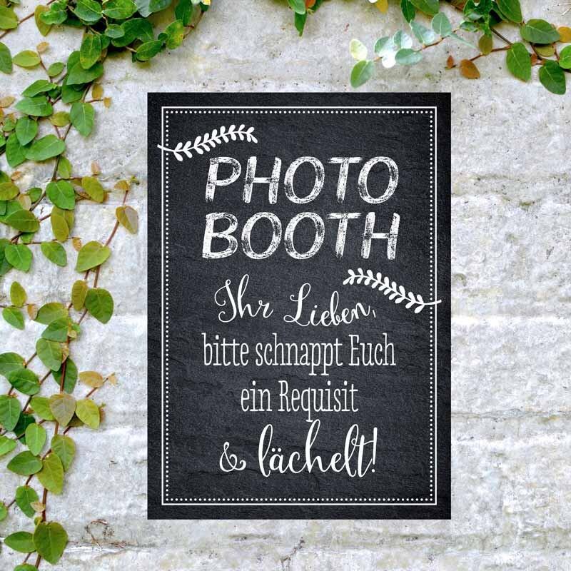 Schild Hochzeit Photo Booth