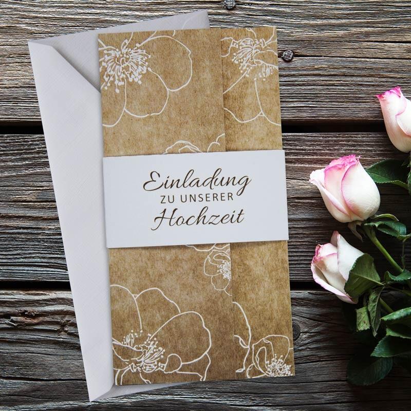 Einladungskarte Hochzeit Vintage Flowers Jetzt Bestellen
