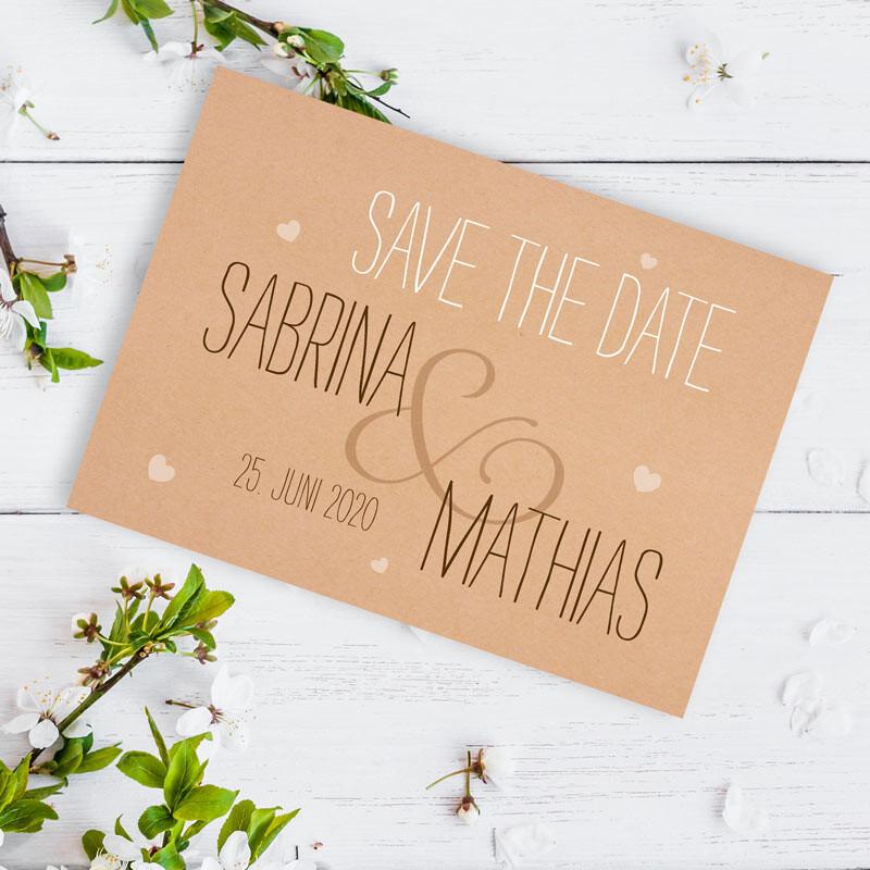 Save The Date Karten Vintage.Save The Date Karte Hochzeit Vintage Style