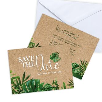 Save the Date Karte Hochzeit Trendy Greenery