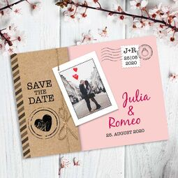 Save the Date Postkarte Liebespost