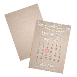 Save the Date Karte Hochzeit Lichterkette