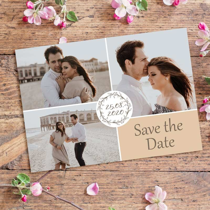 Save the Date Postkarte Vintage Dreams