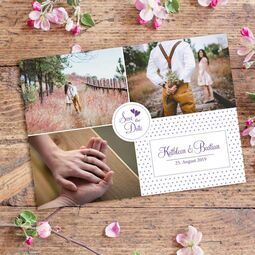 Save the Date Postkarte Feel
