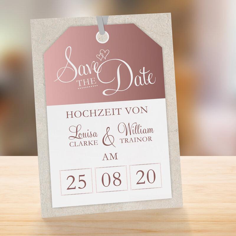 Karte Silberhochzeit Text.Save The Date Karte Hochzeit First Class Ticket