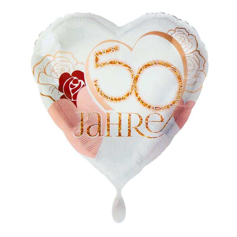 Folienballon Herz Goldene Hochzeit 50 Jahre