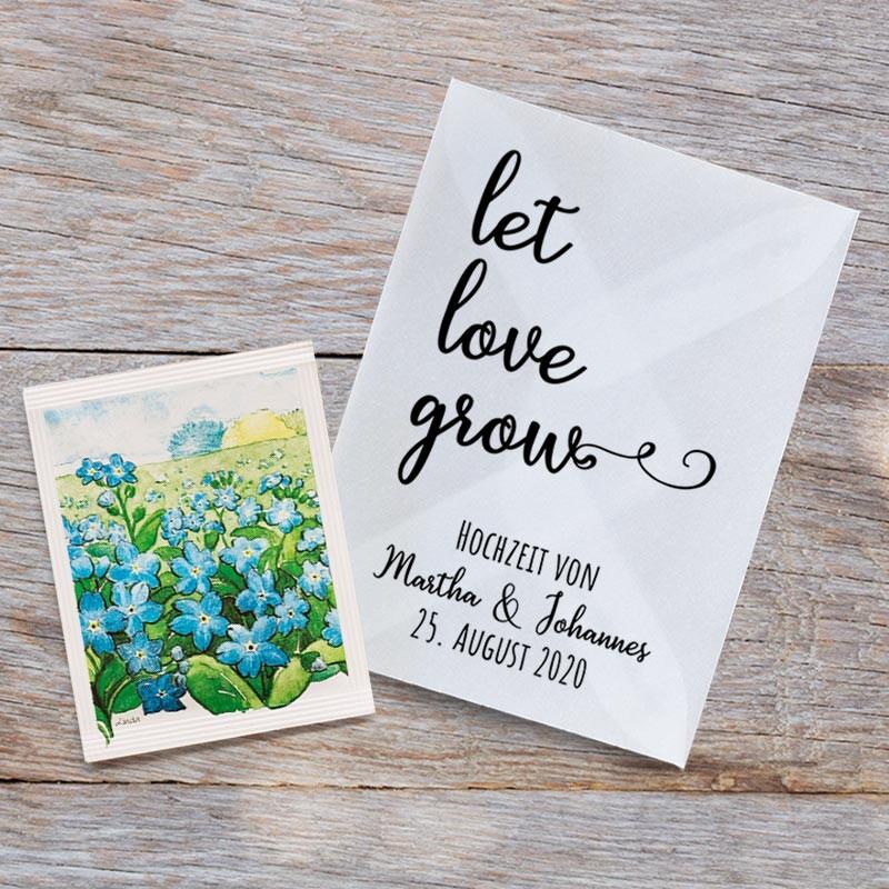 Gastgeschenk Blumensamen Hochzeit Let Love Grow Bestellen