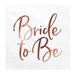 JGA Servietten roségold Bride to be 33 x 33 cm Tissue 20...