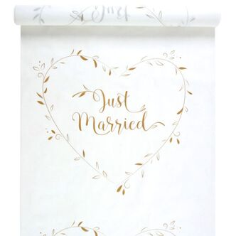 Hochzeitsteppich Just Married gold 75 cm x 10 m
