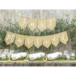 Jute Girlande Just Married