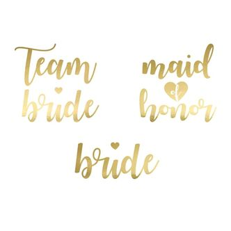 Team Bride Tattoos Gold 13 Tlg