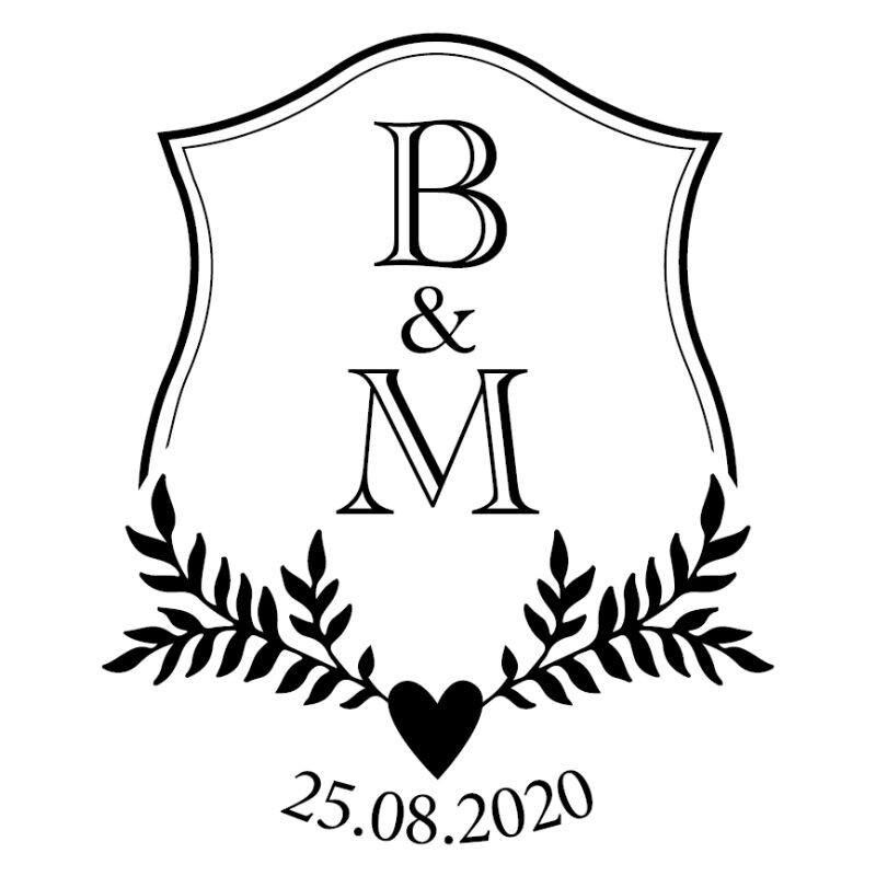 Aufkleber Hochzeit Rund Embleme Personalisiert
