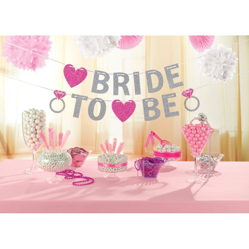 JGA Girlande Glitter Bride to be
