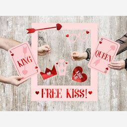 Photo Booth Set Kiss 7 tlg.