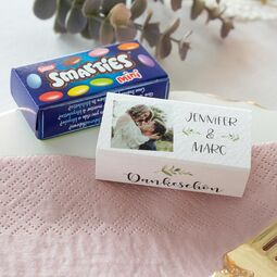 Gastgeschenk SMARTIES mini mit Banderole Green Magic