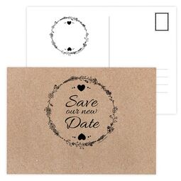 Save the NEW Date Karte Vintage Natural