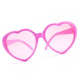 Photo Booth Herzbrille pink