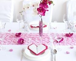 tischdeko hochzeit in pink ratgeber. Black Bedroom Furniture Sets. Home Design Ideas