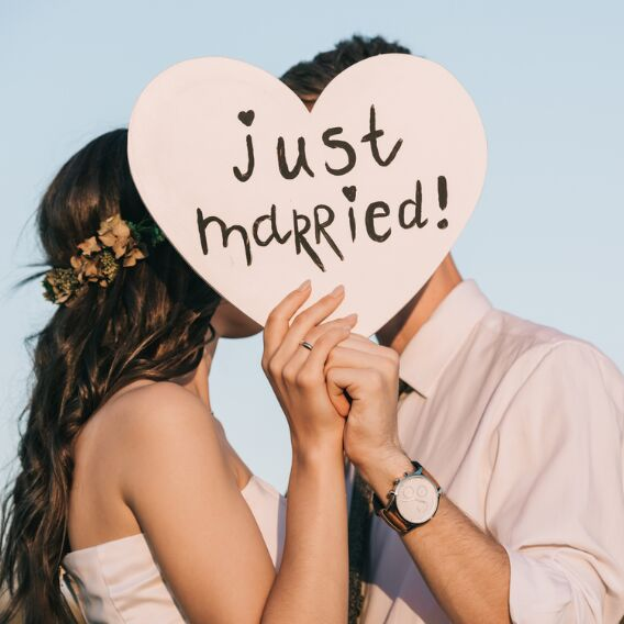 Haben getraut karte uns text wir Hochzeitsglückwünsche und