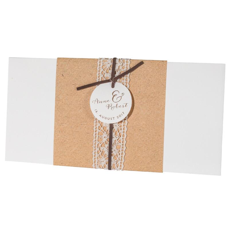 Einladungskarte Hochzeit Vintage Mit Spitze 725909