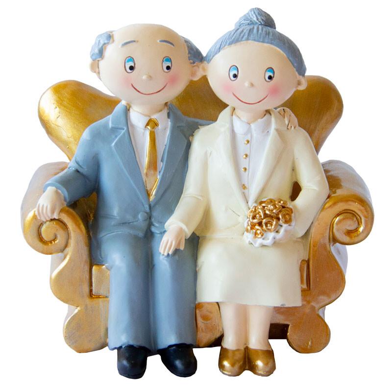 Tortenfigur Goldene Hochzeit Sofa