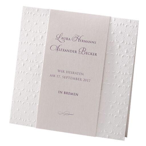 Einladungskarte Hochzeit Traum In Creme Weiß 725905
