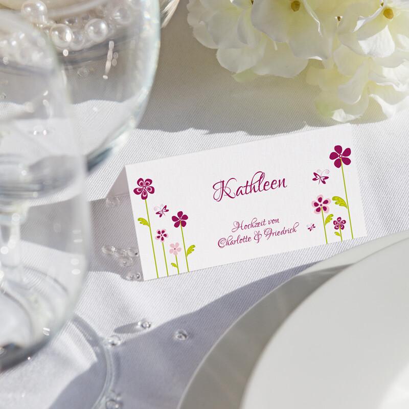 Tischkarte Hochzeit Blumenwiese