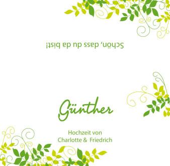 Einladungskarte Hochzeit Grune Ranken