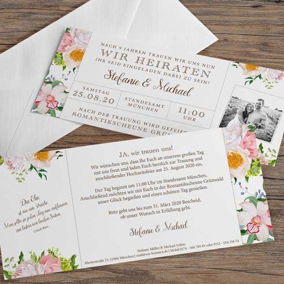 Einladungskarten Trends 2016 Blumenprints Ratgeber