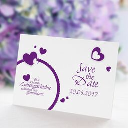 Save the Date Karte Hochzeit Lovestory