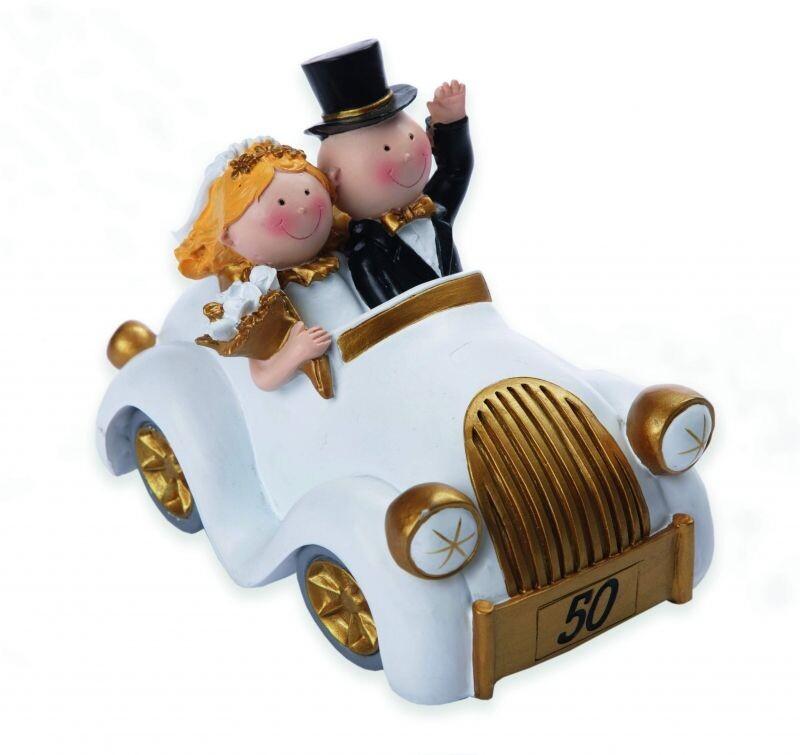 Tortenfigur Goldene Hochzeit Auto Groß
