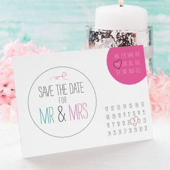 save the date karte hochzeit calendario. Black Bedroom Furniture Sets. Home Design Ideas