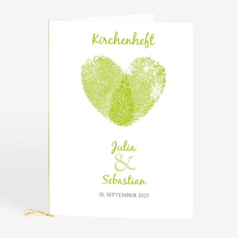 Kirchenheft Fingerabdrucke Fur Eure Hochzeit Bestellen