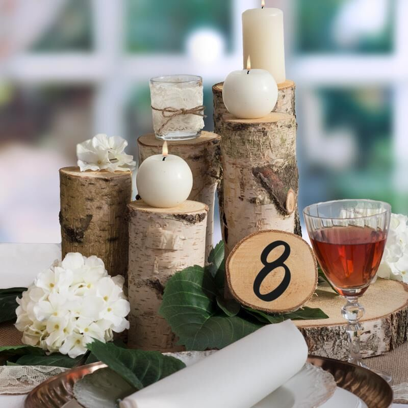 Deko Baumstamm 15cm Aus Holz Kaufen Meine Hochzeitsdeko De